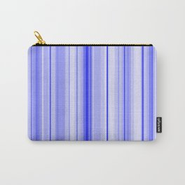 Blue Vertical Stripe Carry-All Pouch
