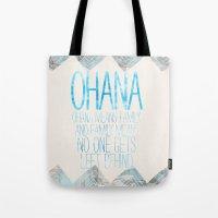 ohana Tote Bags featuring OHANA by Sara Eshak