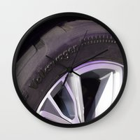 volkswagen Wall Clocks featuring Volkswagen Taigun tire by Mauricio Santana