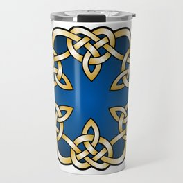 Royal Blue Mandala Knot Travel Mug
