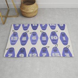 Motel keychain # blue shades Rug