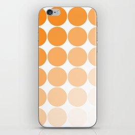 Orange Circle Color Charts iPhone Skin