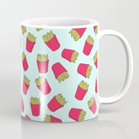 fries Mugs featuring Fries by weheartstore
