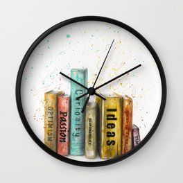 Books of Life Wall Clock