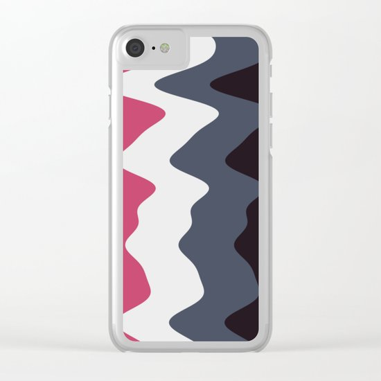 Abstract lines 23 Clear iPhone Case