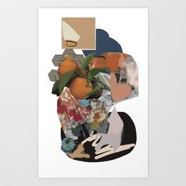 orange y mu olive Art Print