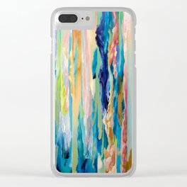 Forgotten Moire Futures Clear iPhone Case