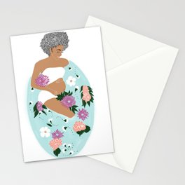 Expecting mom's bath time Stationery Cards