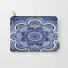 Mandala Blue Colorburst Carry-All Pouch