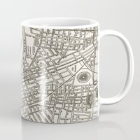 nashville Mugs featuring Nashville Map by Zeke Tucker