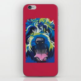Wirehaired Griffon or Labradoodle Pop Art Pet Portrait iPhone Skin