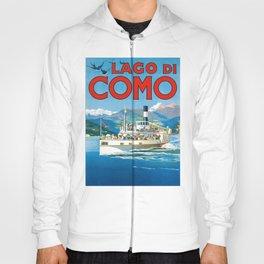 1900 ITALY Lake Como Travel Poster Hoody