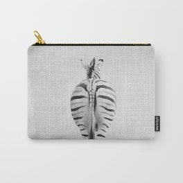 Zebra Tail - Black & White Carry-All Pouch