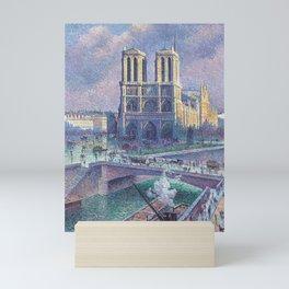 """Maximilien Luce """"Notre Dame de Paris"""" (2) Mini Art Print"""