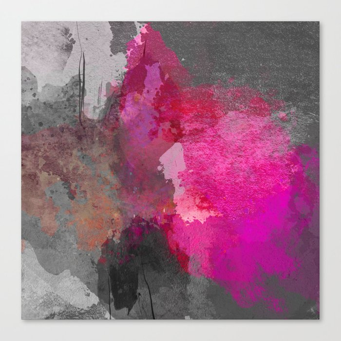 Gray pink abstract Canvas Print