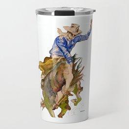 Ride em Cowboy by Peter Melonas Travel Mug