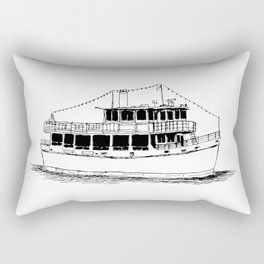 Old Ferry Boat Rectangular Pillow