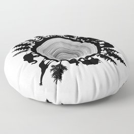 Into The Woods - Tree Ring Floor Pillow