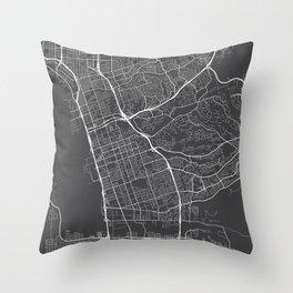 Chula Vista Map, USA - Gray Throw Pillow