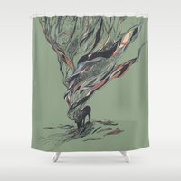 jesus Shower Curtains featuring Dream Again by Huebucket