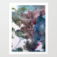 leaping fox ballet Art Print