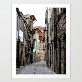 Oporto Back Streets Art Print