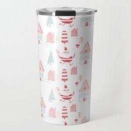 Santa is in Town White #Holiday #Christmas Travel Mug