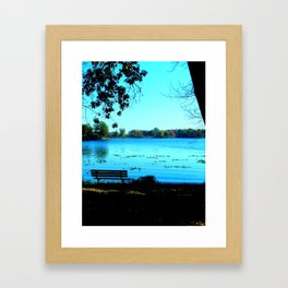 Alone by the Lake Framed Art Print
