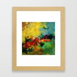 Colorful Landscape Abstract Art Print Framed Art Print