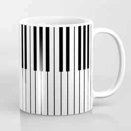 The Piano Black and White Keyboard Coffee Mug