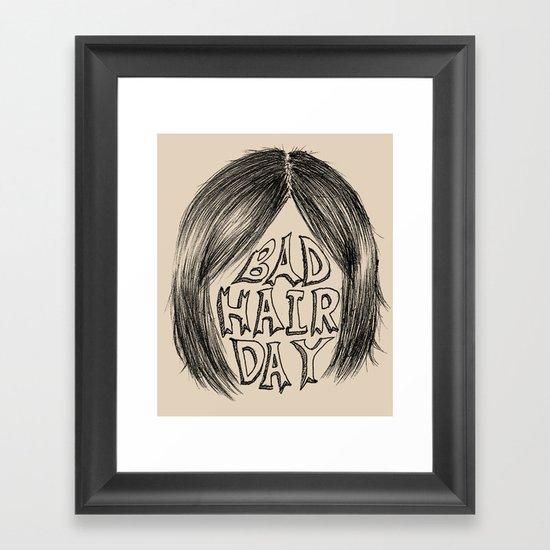 bad hair day Framed Art Print