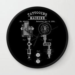 Retro Tattoo Machine   Tattoo Artist Wall Clock
