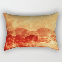 Energy Waves - Fire Version Rectangular Pillow