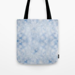 Blue white sparkles bokeh abstract Tote Bag