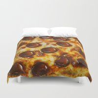 cheese Duvet Covers featuring Cheese  by Chelsea Victoria