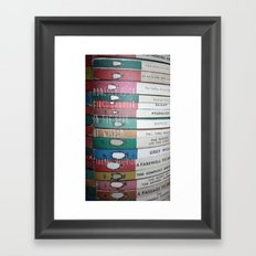 Honesty is the first chapter in the book of wisdom. Framed Art Print