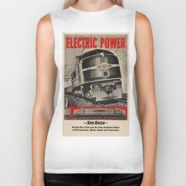 Vintage poster - New Haven Railroad Biker Tank