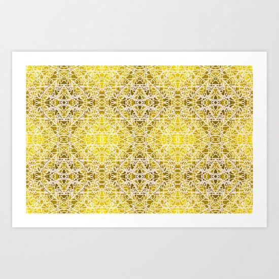 Random rope on gold foil Art Print