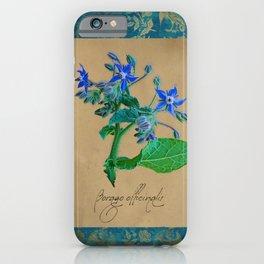 Herbal Apothecary: Borage iPhone Case