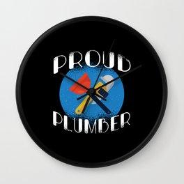 PROUD PLUMBER Wall Clock