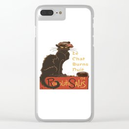 Le Chat  Burns Nuit With Haggis and Dram Clear iPhone Case