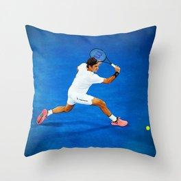 Roger Federer Sliced Backhand Throw Pillow