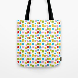 rectangle and abstraction 3-mutlicolor,abstraction,abstract,fun,rectangle,square,rectangled,geometri Tote Bag
