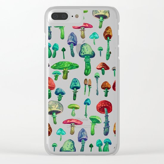 Mushrooms water Clear iPhone Case