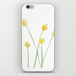 Yellow Billy Button Flowers iPhone Skin