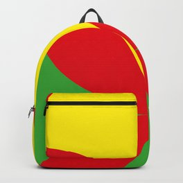 Red Four-Leaf-Clover, in the Jungle, hiding a beautiful Yellow Sun in a Red summer sky. Backpack