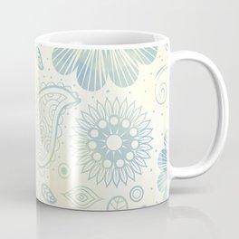 Vintage Flower Pattern Background Coffee Mug