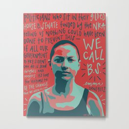 Emma Gonzalez. Metal Print