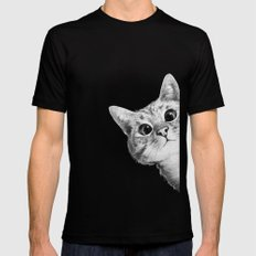 sneaky cat MEDIUM Mens Fitted Tee Black