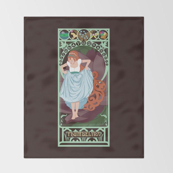 Thumbelina Nouveau - Thumbelina Throw Blanket